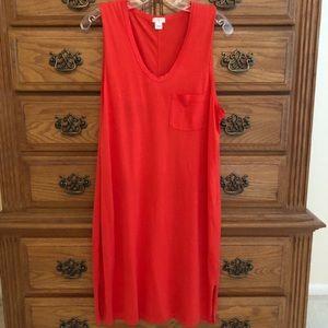 J Crew red dress